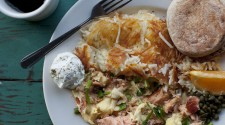 Our Famous Alderwood Smoked Fresh King Salmon Scramble