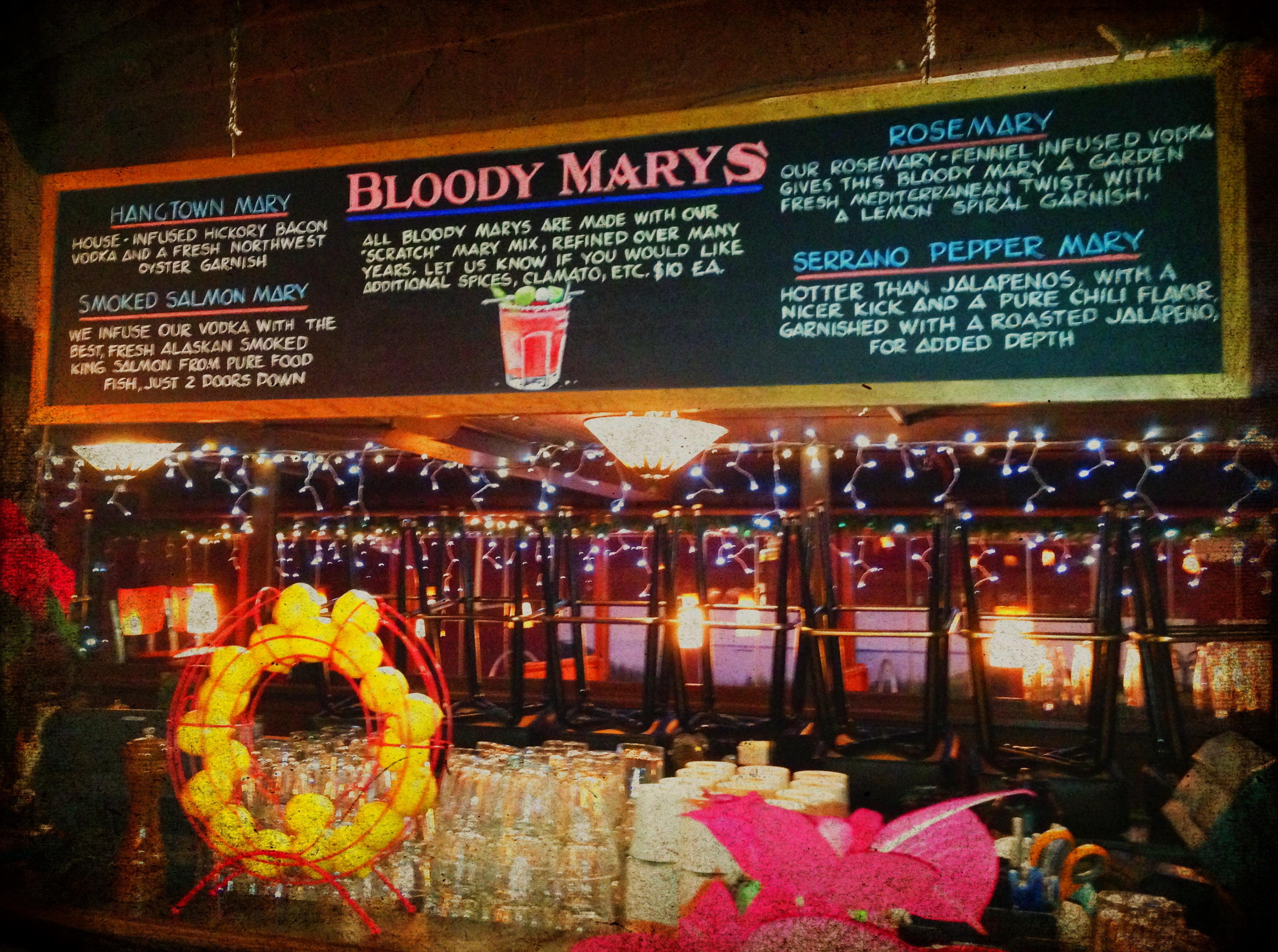 BLOODY MARY BOARD