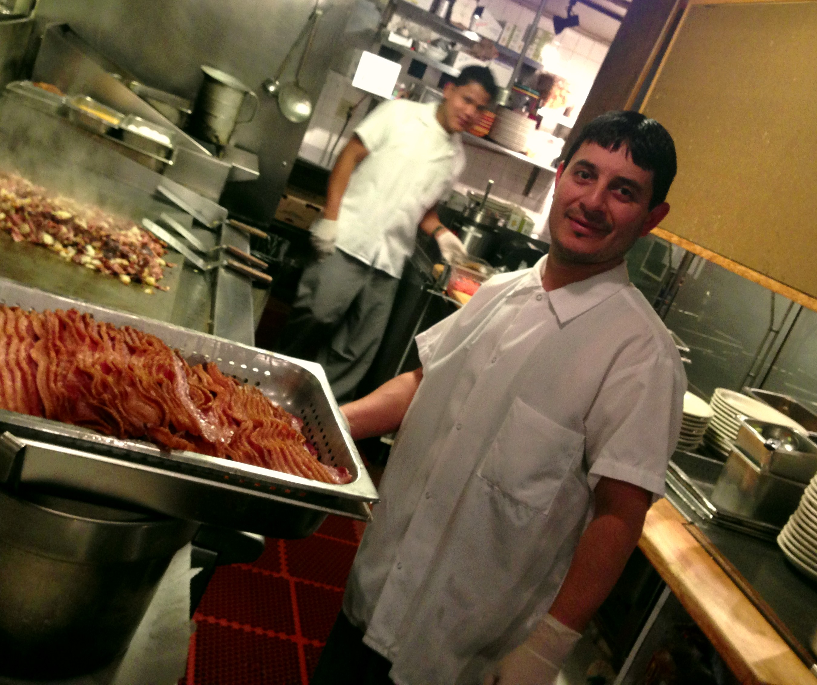 Our loyal breakfast pros. Two of the crew, all dedicated to you daily from 7AM through lunch and dinner!
