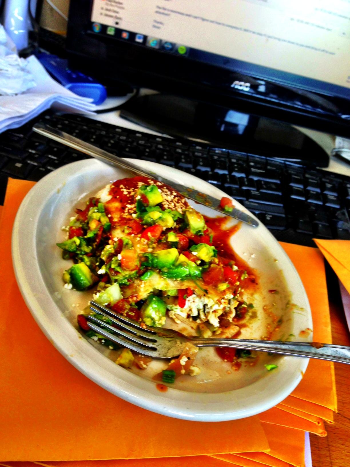 My egg white burrito!