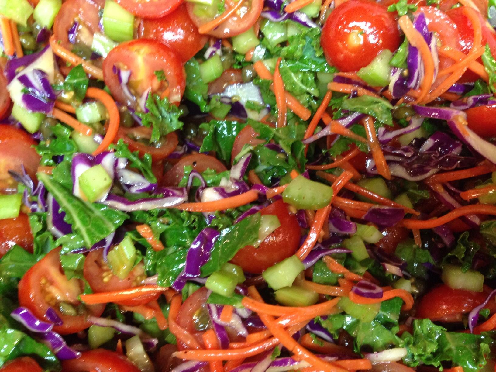 Mediterranean Tomato-Kale Salad!