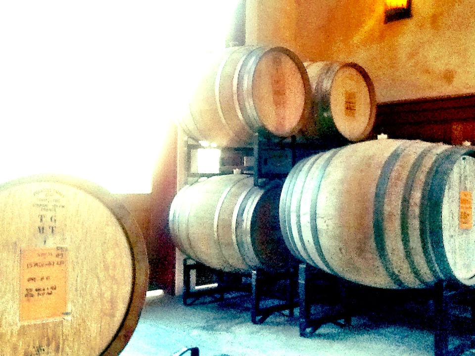 We took this picture at Abeja Winery in Walla Walla while doing some research, then went inside to taste!