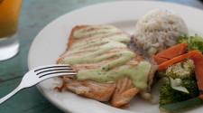 Fresh Alaskan King Salmon Filet with Fresh Herb Sauce