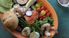 Market Louie; Dungeness Crab, Alderwood Smoked Salmon & Prawns...