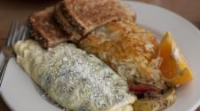 Full of fresh market veggies, Vegetable Omelet
